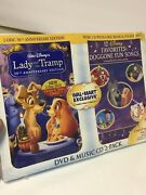 Disney Movie Lady And The Tramp - 50th Anniversary Edition Dvd + Music Cd