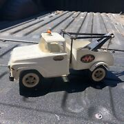 1960 Tonka Pressed Steel Aa Wrecker Tow Truck No. 18 W Tow Hook And Chain - Lot B
