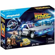 Playmobil Back To The Future Delorean Car Playset Marty Doc Brown 70317 In Stock