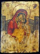 Russian Icon Painting On Wood Our Lady Of Eleousa 17th Century Art Museum