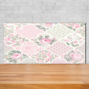 Tulup Kitchen Glass Splashback 140x70 Roses And Ornaments