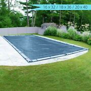 Pool Cover In-ground Winter Block Easy Installation Heavy-duty 16x32/18x36/20x40