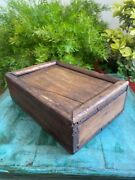 Old Antique Wooden Hand Crafted Indian Kitchenware Spice Box / Jewelry Box
