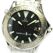 Omega Seamaster300 Americaand039s Cup 2533.50 Black Dial Automatic Menand039s Watch_624734