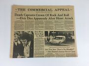 Memphis Commercial Appeal Death Captures The Crown Of Rock And Roll Elvis Dead