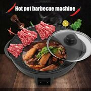 Multifunctional Electric Bbq Grill Non Stick Plate Barbecue Pan Party Hot Pot