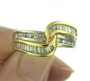 Two Tone 0.75ctw Diamond Knot Wedding Anniversary Band Ring In 14k Gold Size 6.5