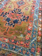 Antique Old Used Handmade He Riz Wool Rug Runner Carpetchic.size11 By3.6 Ft