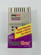 Safety Siren Hs80004 Carbon Monoxide, Propane And Methane Gas 3in1 Detector Alarm