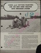 Vintage Corn And Cotton Planters Ford Tractor With Ferguson - Sherman System
