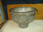Vintage Steel Dairy Farm Milk Can Strainer Funnel Rustic With Handles 10 Tall