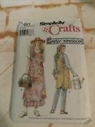 Simplicity Crafts Sew Pattern 7481 Crossover Apron Daisy Kingdom Size A S-xl