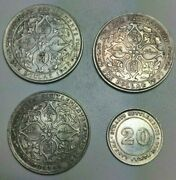 Straits Settlements 19072 1, 1920 1 And 1890 20 Cents Silver Coins