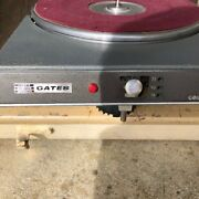 Gates Cb1200 Broadcast Turntable With Tone Arm, Matching Set Of Two 2