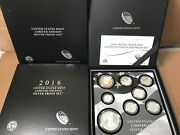 2016 Limited Edition Silver Proof Set Us Mint 8 Coins W/ Box And Coa 16rc