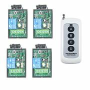 One Remote Control Controls 4 Receivers Dc12v Relay Output Wireless Remote Sw...