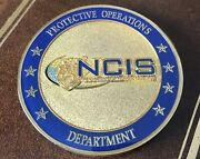 U.s. Navy Ncis Special Agent Emblem Protective Operations Dept. Challenge Coin