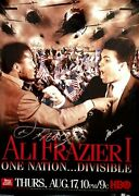 Muhammad Ali Vs. Frazier Fight Of The Century Dual Signed One Nation Hbo Poster