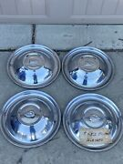 """Set Of 4 1951-1952 Plymouth Hubcap 15"""" Wheel Cover Belvedere Fury Oem 51 52"""
