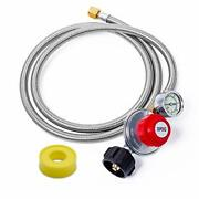 Beature 5 Ft 0-30 Psi Adjustable High Pressure Propane Regulator And Stainles...