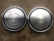 Pair 2 1968 - 1973 Ford Motor Company Dog Dish Poverty Hubcaps 10 1/2
