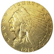 In God We Trust Liberty America Usa Indian Head 1915 Gold Plated Coins Souvenir