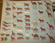 Marx Large Lot Of Jungle/zoo/super Circus Playset Animals Over 60 Animals L@@k