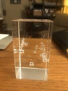 High Purity Fused Silica Crystal Paperweight Corning Glass Employe Award Steuben