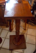 Mid Century Pine Plant Stand Ps121