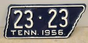 Vintage 1956 Tennessee Motorcycle License Plate - Mcminn County Repaint