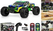 110 Scale Brushless Rc Cars 65 Km/h Speed - Boys Remote Control Blue - Yellow