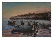 """A Vintage Shore Oil Painting """"rhode Island"""" 57"""