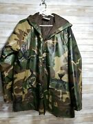 Vtg Winchester Rain Coat Quilted Quilted Liner W/hood Mens L