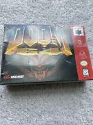 Doom 64 N64 First Print Red Seal Nice Good For Age . As Is .new