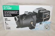 Everbilt 3/4 Hp Shallow Well Jet Pump 8 Gpm Corrosion Resistant - Model J200a3