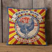 Pillow -rooster Early Bird Poultry Feed - Audreyand039s / Your Hearts Delight -8fa845