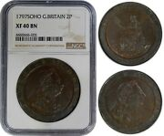 Great Britain 2 Pence 1797-soho Ngc Xf40bn Excellent Eye-appeal
