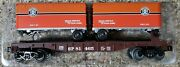 Lionel Southern Pacific Flatcar With Piggyback Trailers 6-81465