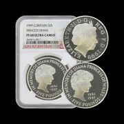 Great Britain. 1999 5 Pounds Silver - Ngc Pf68 - Diana Memorial Proof