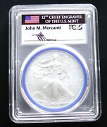 2008-w Burnished Silver Eagle Pcgs Sp70 Mercanti Signed Engraver Series Pop 97
