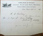 Lima Mt 1891 Letterhead Livery Feed/stables Wine And Cigars - Montana Mont