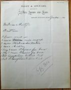 Shelby Mt 1901 Letterhead Liquor Cigars And Wine-daley And Aylward - Montana Mont