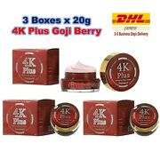 3x 4k Plus Whitening Night Cream Goji Berry Natural Extracts Firming Smooth Skin