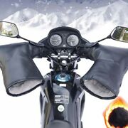 2pcs Motorcycle Scooter Handlebar Gloves Hand Muffs Winter Thermal Warm Mitts