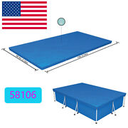 10ft6ft.9in Pe Pool Cover For Rectangular Above Ground Pools Bestway Dustproof