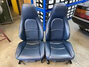 Genuine 993 Seats Blue Leather Sports Electric Bucket Seats 911 964 968