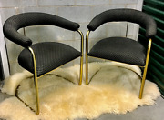Vintage Set Of 2 Anton Lorenz For Thonet Chrome Cantilever Chairs 1970s Mcm