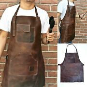 Full Grain Leather 103 Apron Butcher Bbq,grill,kitchen,woodwork,barber Welding