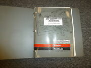 Ingersoll Rand Mt6520 Mw6520 Milling Machine Parts Catalog Manual S/n 5092-up