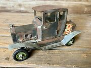 Neat Vintage Hand Built Ford Model T Hot Rod Tin Toy Car Made From Peanut Cans.